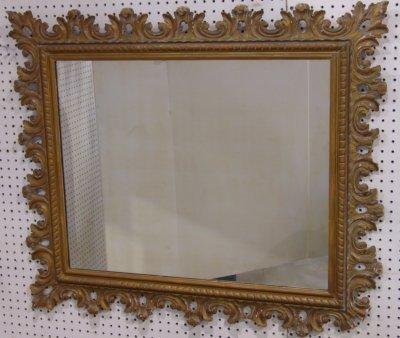 612: Gilt Framed Mirror Ca. 1940-50's