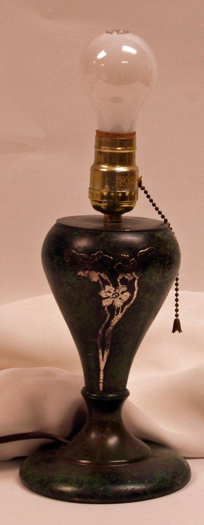 616: Copper & Silver Lamp Unsigned
