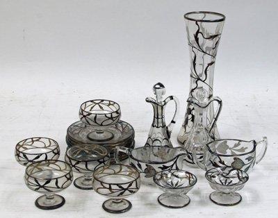 6: Group lot silverwash crystal