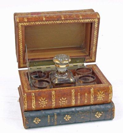 15: Liquor set in book box