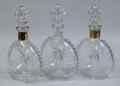 17: 3 Baccarat liquor bottles