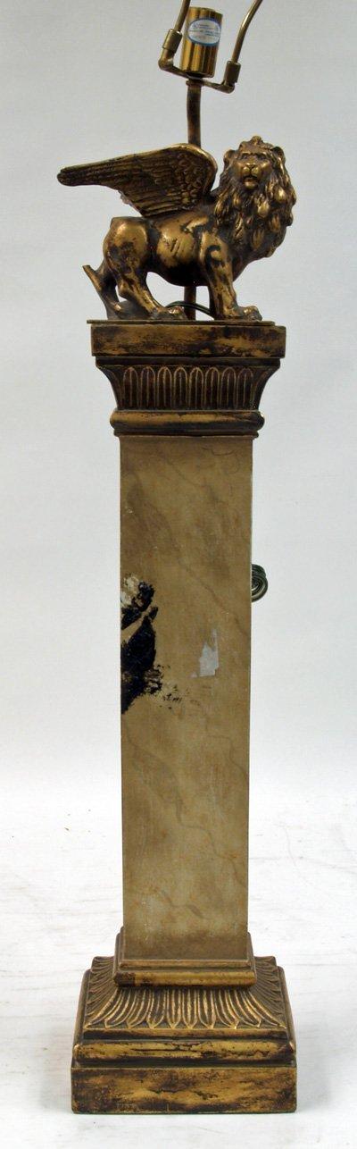 24: Empire style square column lamp