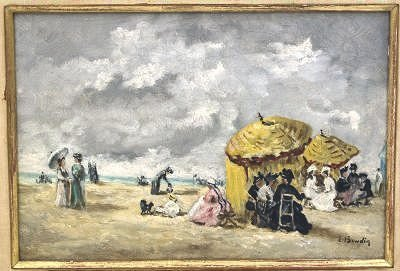 310: Oil painting on canvas signed E. Boudin