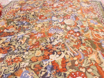 631: Aubusson carpet with animals & people