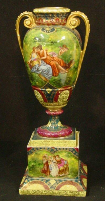 4: Austrian viennese porcelain urn