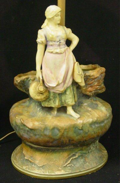 8: Austrian amphora grouping mounted as lamp