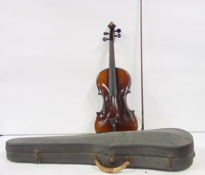 20: Violin in case with bow
