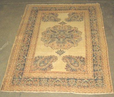 600: Antique Persian oriental rug
