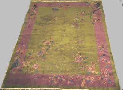 604: Art Deco Chinese rug Ca. 1920's
