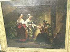 878: 19th c. oil painting on canvas Unsigned