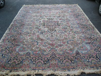 4: Center medallion Kermin rug