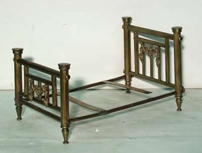 8: Victorian salesman's sample of brass bed