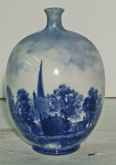 22: Royal Doulton handpainted scenic vase