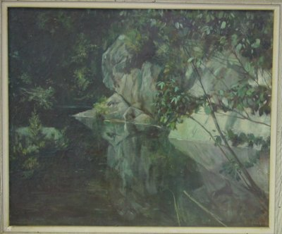 202A: Oil painting on canvas signed J. Sprague