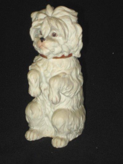 605: German bisque figure of dog