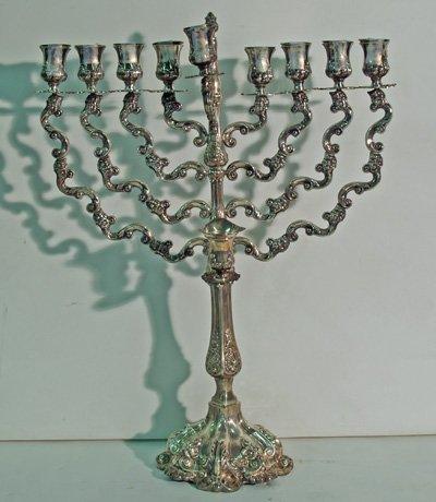 613A: Sterling silver menorah