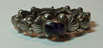 615: Mexican sterling silver bracelet