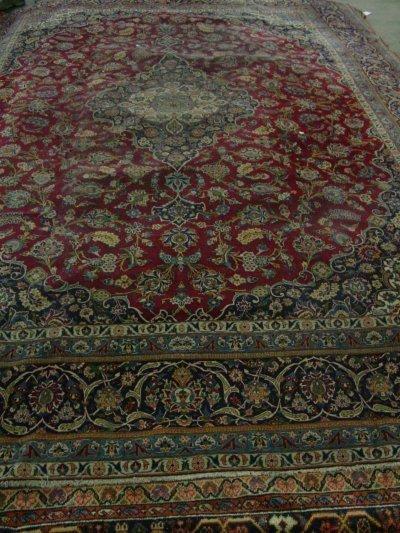 1: Persian red Kashan rug ca. 1930's