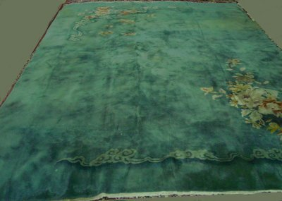 7: Chinese floral spray design rug ca. 1930's