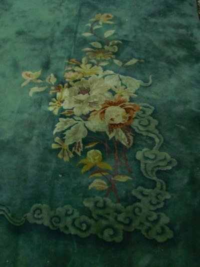 7: Chinese floral spray design rug ca. 1930's - 2