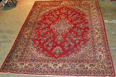 8: Red Persian mid century center medallion rug