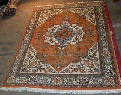 9A: Orange Heriz rug