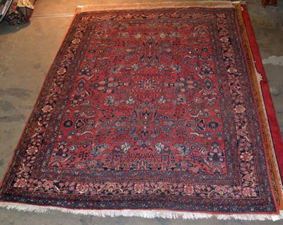 11: Red Persian mid century rug