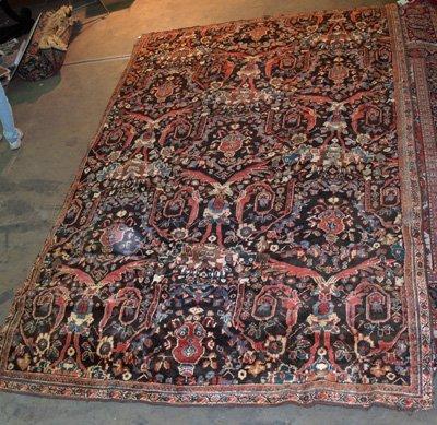11A: Oriental brown rug