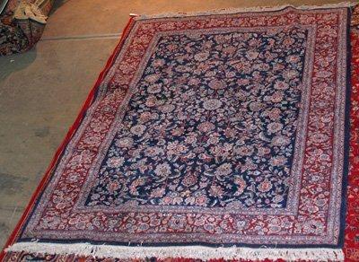 12: Kermin Persian blue center rug