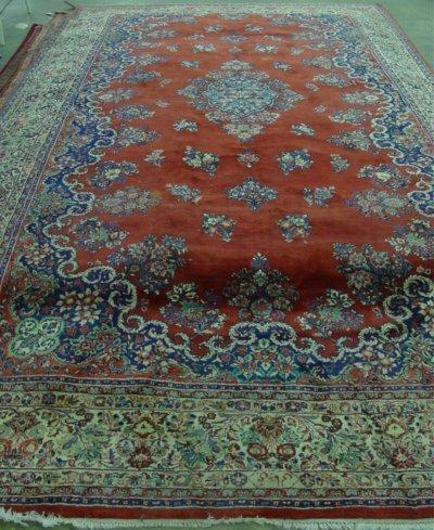 14: Persian handmade Red Sarouk rug