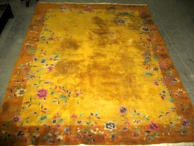 1001: Art Deco hand made Chinese rug ca. 1930-40's