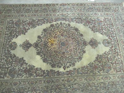 1007: Antique Tabriz rug with center medallion