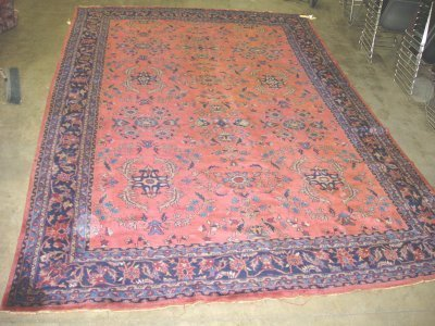 1010: Red Sarouk center medallion rug