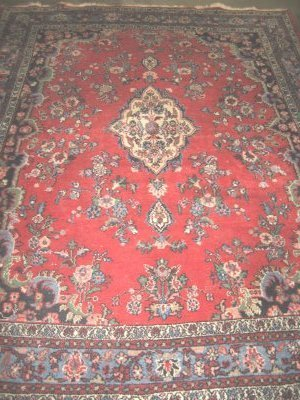 1012: Red center medallion Hamadan rug