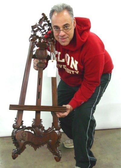 1502: Carved child's easel