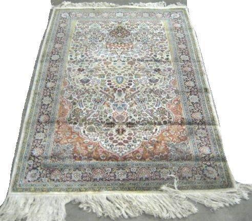 4: Silk Tabriz rug