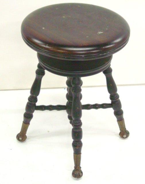 15: Mahogany piano stool