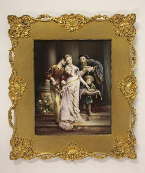 354: 19th c. gilt framed KPM plaque ca. 1890