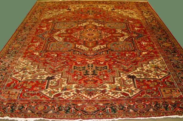 14: Semi-Antique Heriz rug