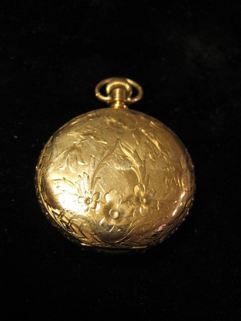 23: 14kt gold closed face pocket watch