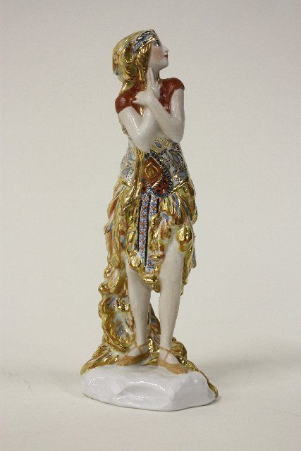 313: Russian porcelain figure signed