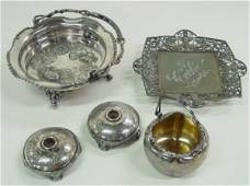 476 Group lot of assorted silver plate items