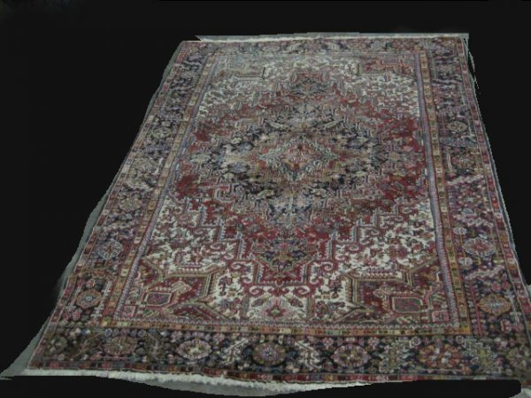 8: Old Persian Heriz rug