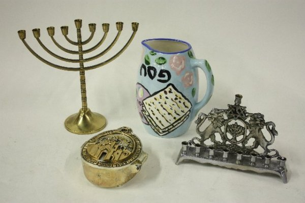 10: Group lot of assorted Judaica