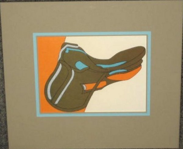 21: Mid century colored lithograph by Herve Telemaque