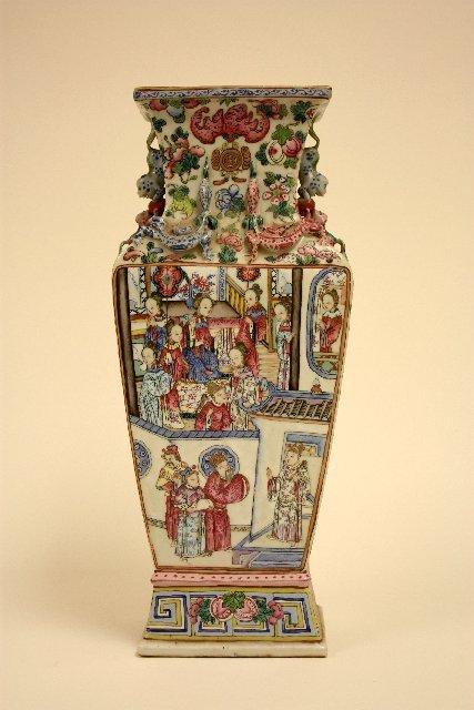 257: Chinese handpainted porcelain vase