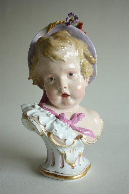 "332: 19th c. Meissen ""Bust of Cupid"""