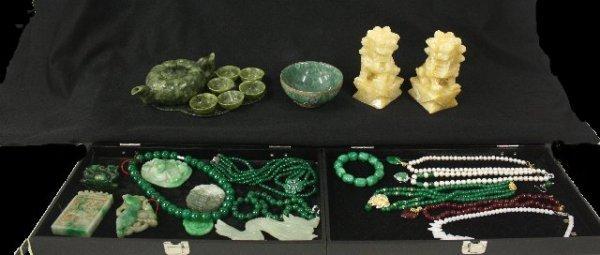555: Group lot of jade