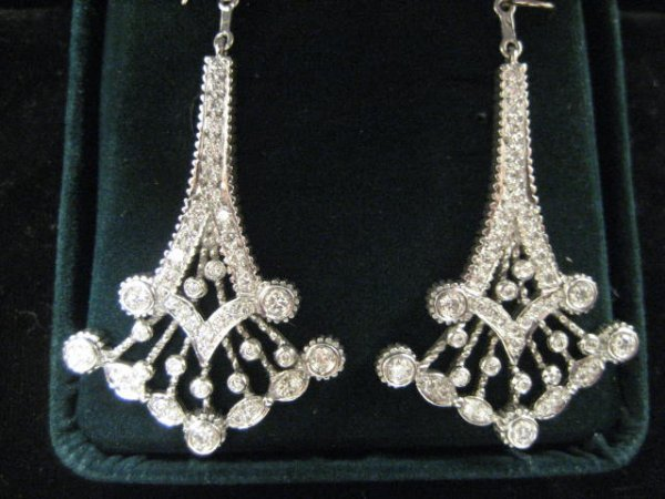 561: White gold & diamond chandelier jackets