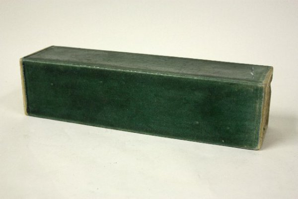 570: Green Chinese pottery artist signed